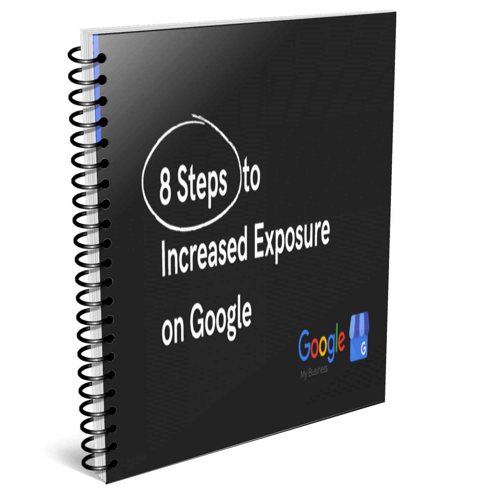 Cover of 8 steps to increased exposure on Google